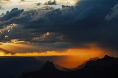 Sunset Storm over the Canyon || Grand Canyon NP