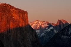 El Capitan and Half Dome Sunset || Yosemite NP
