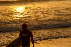 Surfer at Sunset    Playa Madera, Nicaragua