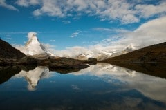 Matterhorn Reflection in Riffelsee Lake || Switzerland