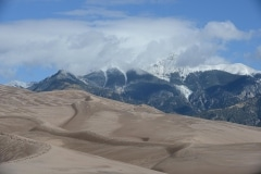 Great Sand Dunes and Mt. Herard in Clouds || Colorado