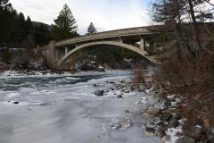 Frozen River and Bridge || Idaho