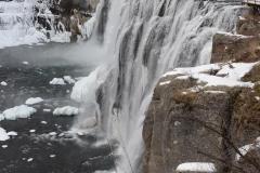 Frozen Upper Mesa Falls || Targhee National Forest, Idaho