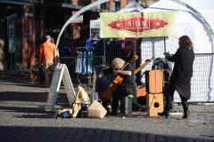 Street Musician in Old Town Portland || Oregon