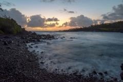 Black Sand Beach Sunrise || Waiʻanapanapa, Hawaii