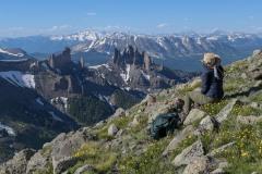 Admiring The Castles    West Elk Wilderness, CO