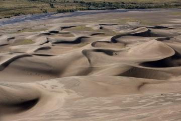 Dunes with Medano Creek    Great Sand Dunes NP, CO
