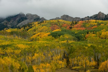 Grand Dike of the Ruby Range in Fall    Elk Mountains, CO