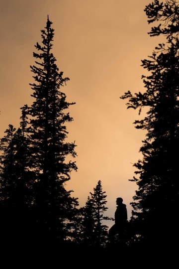 Hiker at Sunset || Mt of the Holy Cross, CO