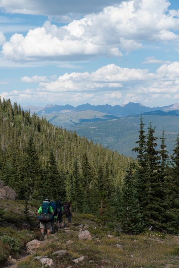 Hikers Descend || Mt of the Holy Cross, CO