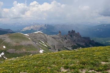 Storm Pass View of The Castles || West Elk Wilderness, CO