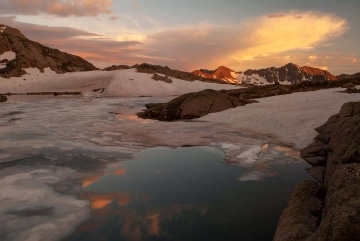Twin Lakes at Sunset || Chicago Basin, CO