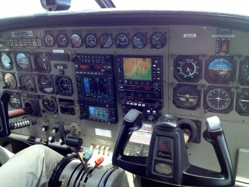 Cockpit of Cessna C208B Grand Caravan || Skies Over Africa