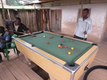 Game of Billiards with Locals || Nkuringo, Uganda
