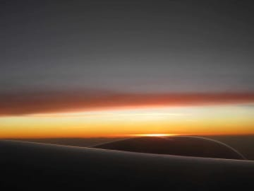 Jet Engine Sunset || Over Africa