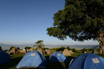 Tents along the Crater || Ngorongoro Crater, Tanzania