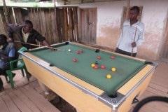 Game of Billiards with Locals    Nkuringo, Uganda