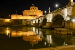 Ponte Sant Angelo at Night    Rome