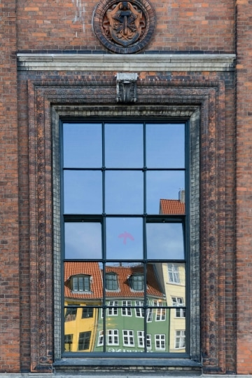 Nyhavn Reflections in Window || Copenhagen