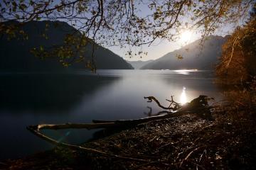 Lake Crescent by Moonlight || Olympic National Park, Washington