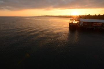 Port Angeles City Pier at Sunrise || Washington