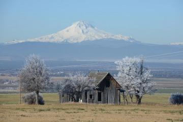 Ranch House and Mt. Hood || Oregon
