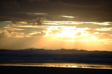 Sunset at Hug Point State Recreation Site || Oregon Coast Hwy