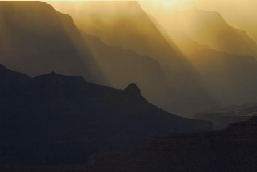 Sun Rays through Storm || Grand Canyon NP