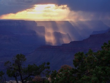 Storm over the Canyon || Grand Canyon NP