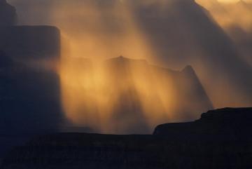 Rays of Light through Storm || Grand Canyon NP
