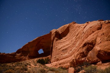 Under the Starts of Looking Glass Arch || Arches NP
