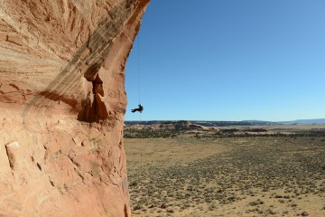 Looking Glass Arch Free Rappel || Arches NP