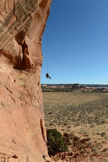 Free Rappel from Looking Glass Arch || Arches NP