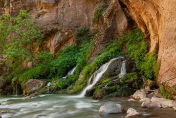 Falls along The Narrows || Zion NP