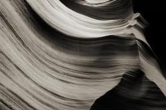 Brushstrokes of Time BW || Lower Antelope Canyon