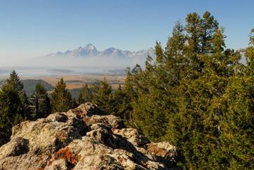 Smoke Shrouds the Tetons || Grand Teton NP