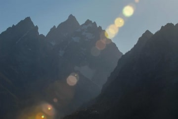Sun through the Tetons || Grand Teton NP