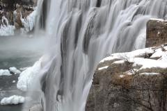 Upper Mesa Falls in Winter    Idaho
