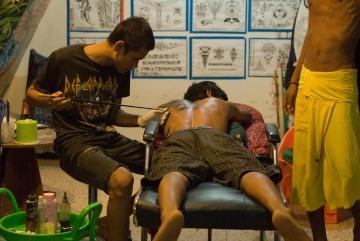 Thai Art of Bamboo Tattoo || Railay