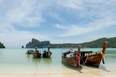 Longtail Taxi Boats in Lodalum Bay || Ko Phi Phi Don