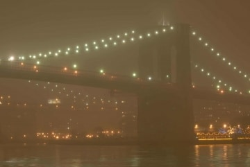 Brooklyn Bridge in Fog || New York City