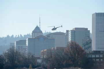 Helicopter over Portland || Oregon