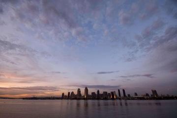 San Diego Skyline at Dusk || California