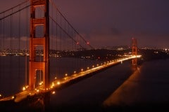 Golden Gate Bridge at Night || San Francisco
