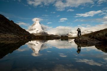 Matterhorn Photographer at Riffelsee Lake || Switzerland