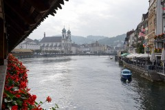 View of Town from Chapel Bridge || Lucerne, Switzerland