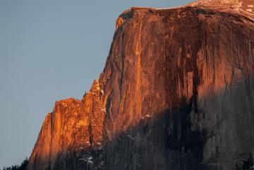 Half Dome Lights up at Sunset || Yosemite NP