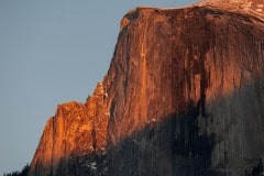 Half Dome Lights up at Sunset || Yosemite NP